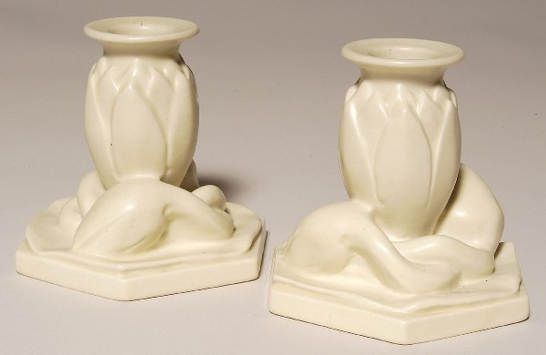 16: Pair of Rookwood 1935 Candleholders