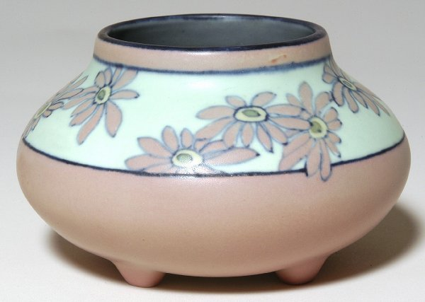 21: Rookwood Vellum Glaze Footed Bowl