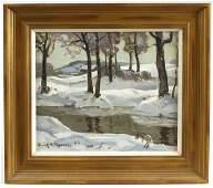 114: Frank Harmon Myers Painting