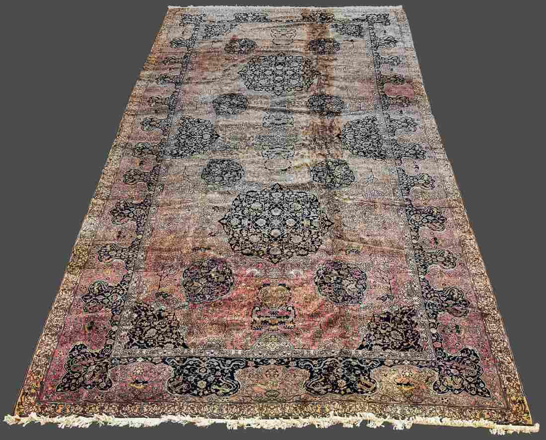 Large 22' Palace Size Semi-Antique Persian Rug