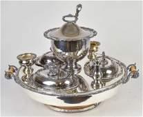 Ornate Silver Plated Lazy Susan Server