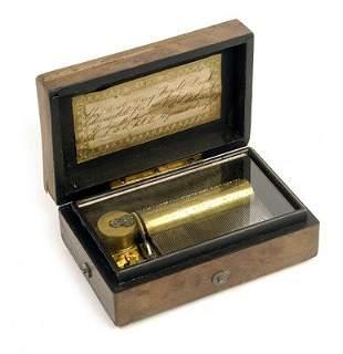 6: SMALL EARLY PAILLARD CYLINDER MUSIC BOX