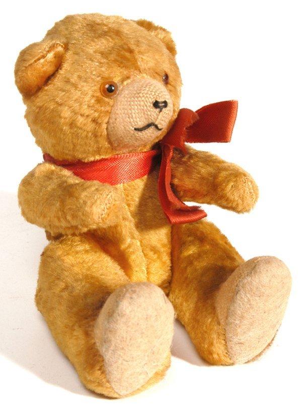2: OLD MINIATURE MOHAIR JOINTED TEDDY BEAR