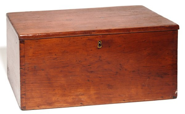 9: EARLY CHERRY DOVETAILED STORAGE BOX