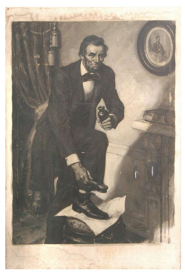 117: SAUL TEPPER (NEW YORK, NY) LINCOLN OIL PAINTING