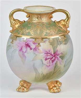Nippon Vase with Nice Gold Decoration