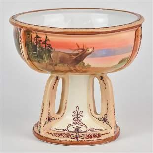 Nippon Scenic Pedestal Bowl
