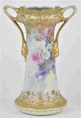Nippon Vase with Heavy Gold Decoration