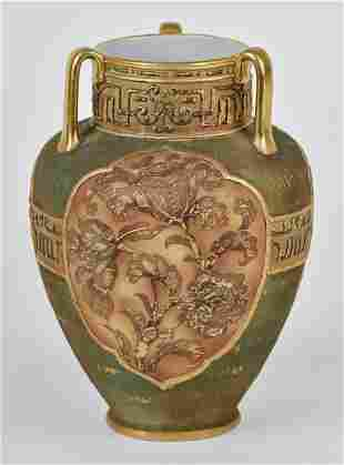 Nippon Vase with Gold Winged Bird