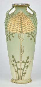 Large Nippon Coralene Vase