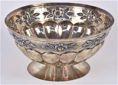 Mexican Sterling Center Bowl