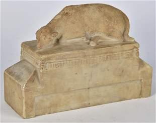 19th Century Folk Art Sculpture of Lamb