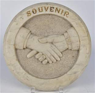 19th Century Claspped Hands Plaque
