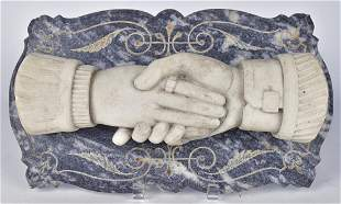 Marble Clasped Hands Plaque