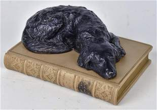 Carved & Painted Stone Book
