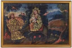 Oil on Canvas Flight to Egypt