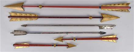 Folk Art Odd Fellows Lodge Carved Arrows