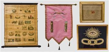 Four Odd Fellows Textiles & Scroll