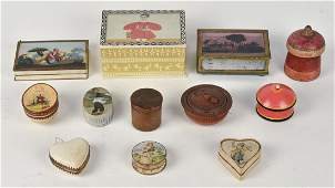 Lot of Early Card Stock & Wood Boxes