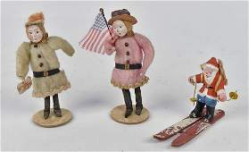 Early German Papier-Mache Christmas Ornaments