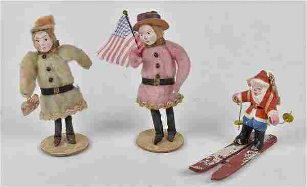Early German Papier-Mache Christmas Ornaments