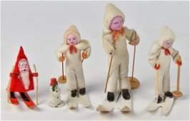 Early Felt & Papier-Mache Christmas Ornaments