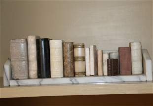 14 Miniature Stone and Marble Books