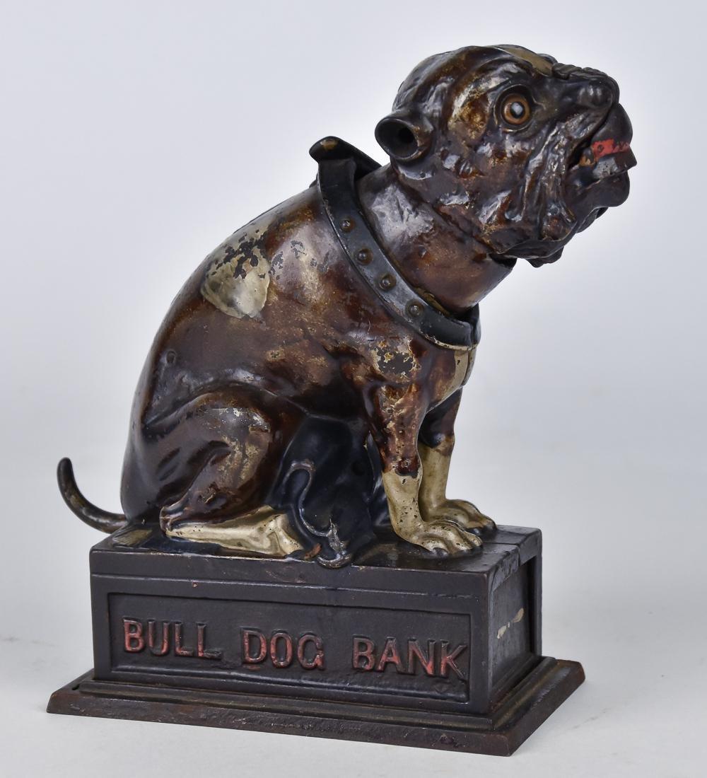 Cast Iron Bull Dog Mechanical Bank
