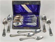 Boxed Set Duhme Coin & Sterling Spoons