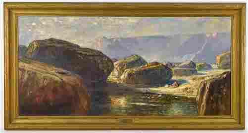 Douglas Arthur Teed (NY/MI) Large Oil Painting