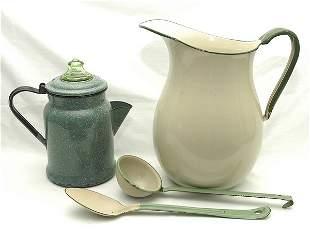 Four Pieces of Graniteware