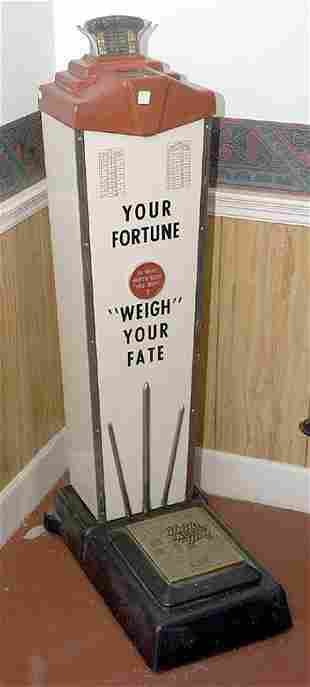 Coin Operated Penny Fortune & Weight Scales