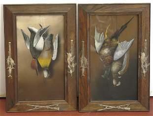 Pair of Framed Hunting Game Paintings