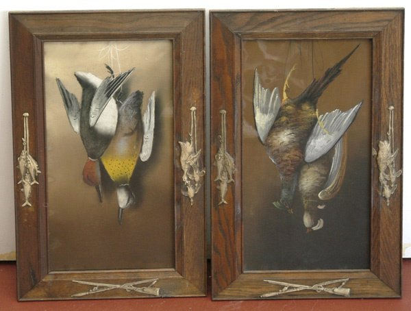 21: Pair of Framed Hunting Game Paintings