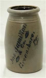 70: Jas. Hamilton & Co., Greensboro, PA Stoneware Jar