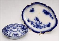 111: Flow Blue Platter and Bowl