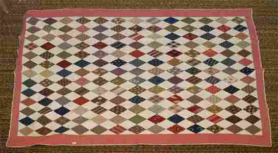 120: Old Handmade Quilt