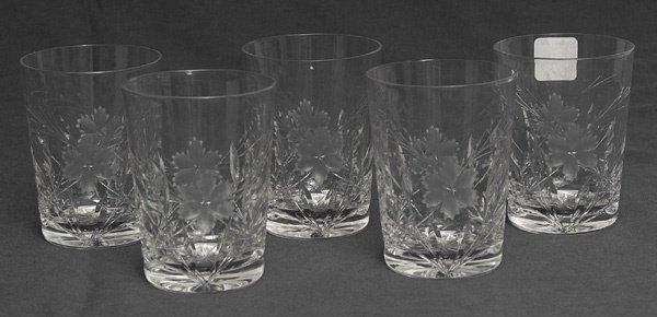 212: Set of Five Cut Glass Tumblers