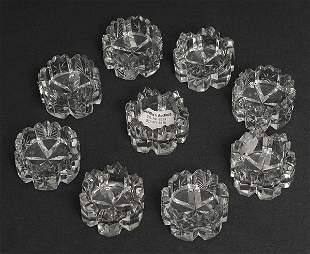 Nine Cut Glass Salts
