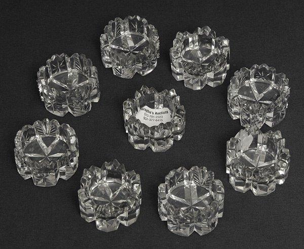 213: Nine Cut Glass Salts