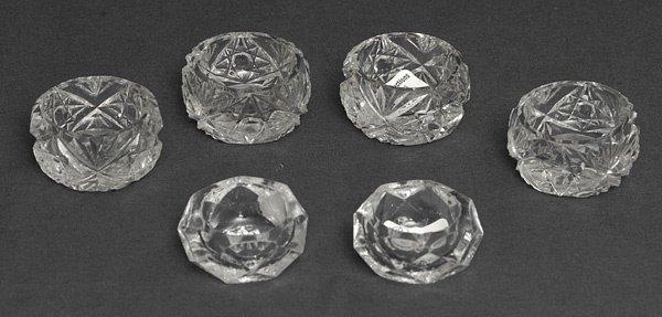 214: Six Cut Glass Salts