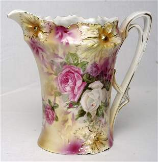 RS Prussia Pitcher w/ Roses