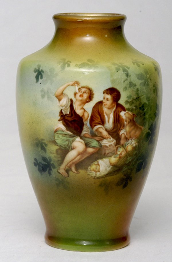 223: RS Prussia Vase w/ Melon Eaters