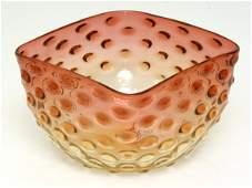 1: Amberina Victorian Art Glass Finger Bowl