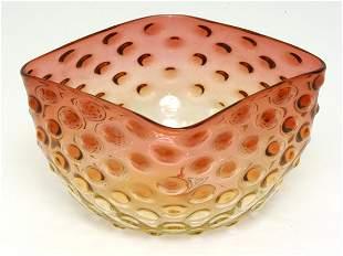 Amberina Victorian Art Glass Finger Bowl