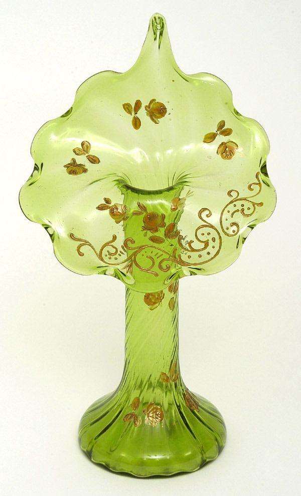 Art Glass Jack-In-The-Pulpit Vase