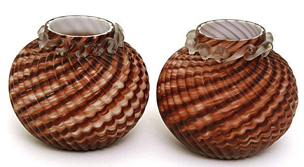 9: Pair of Art Glass Vases