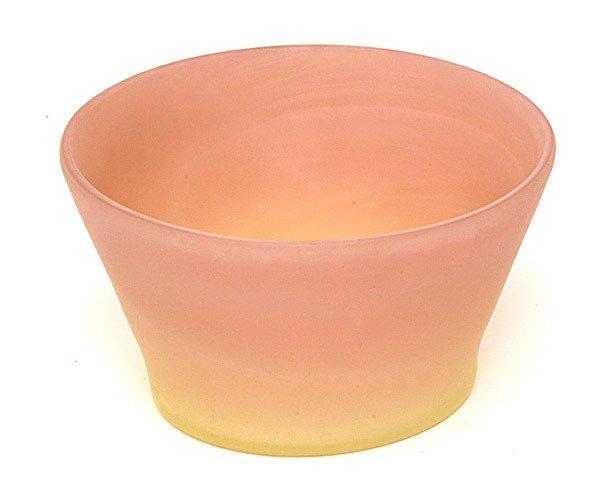 15: Fenton Burmese Art Glass Finger Bowl