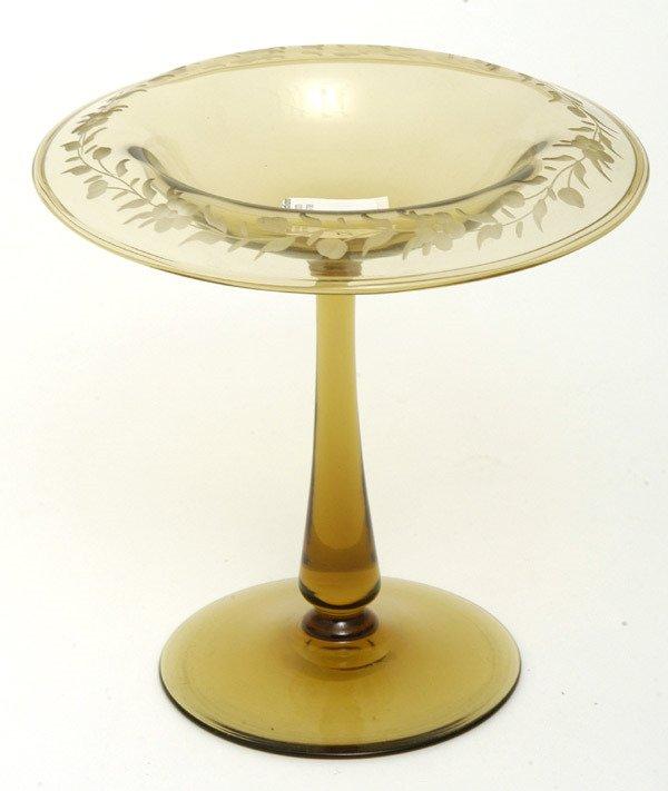 23: Steuben Art Glass Compote
