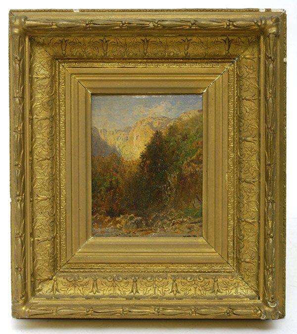 "158: Oil Painting, Ca. 1880, ""Mountain Scene"""
